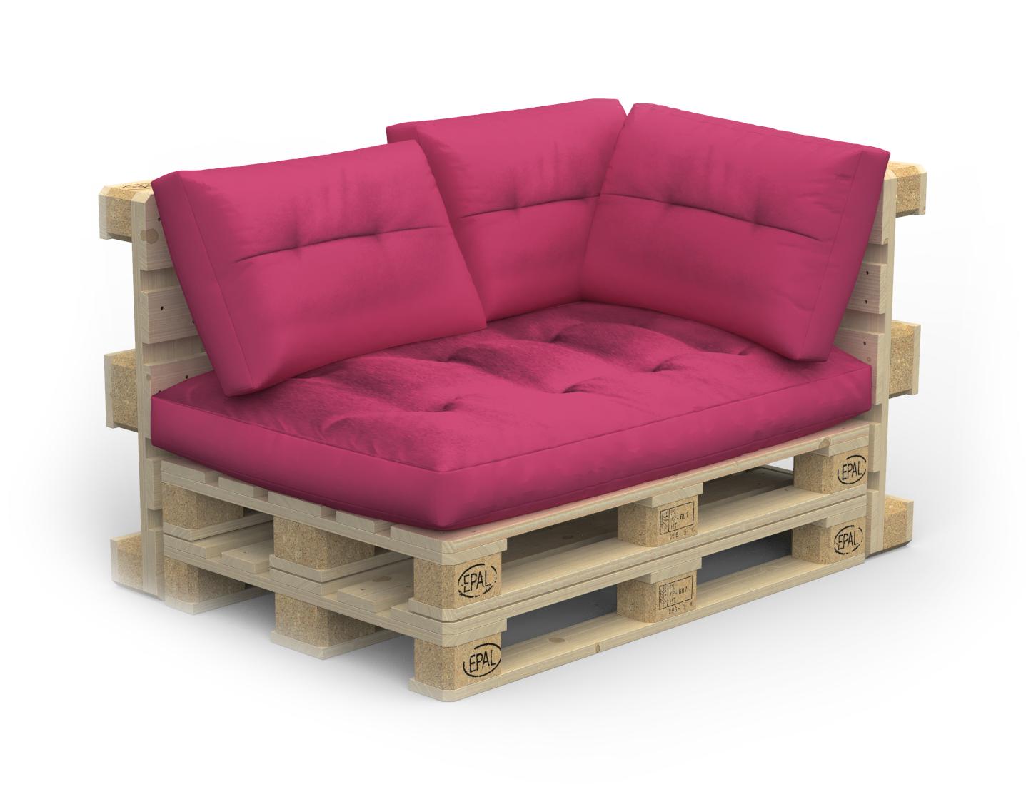 Palettenlounge RIVERA inkl. Kissen pink