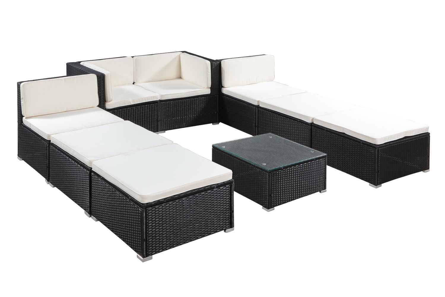 salon de jardin en rotin casa noir magasin en ligne gonser. Black Bedroom Furniture Sets. Home Design Ideas