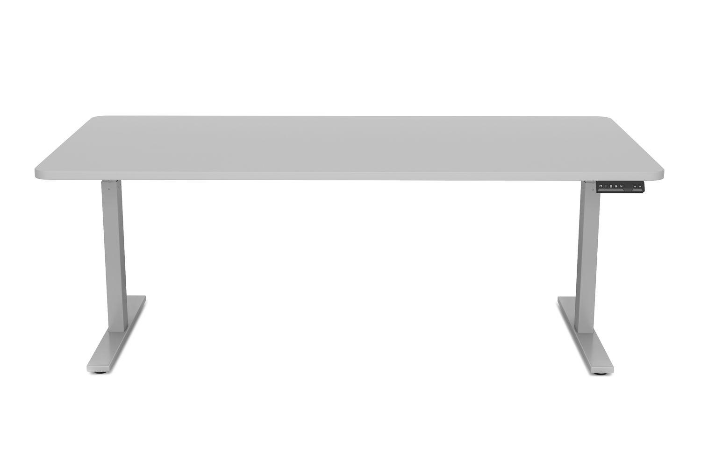 Stehpult elektrisch grau 180 x 90 cm