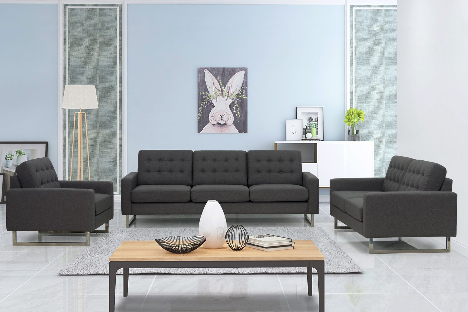 Sofa Set AMADEUS anthrazit