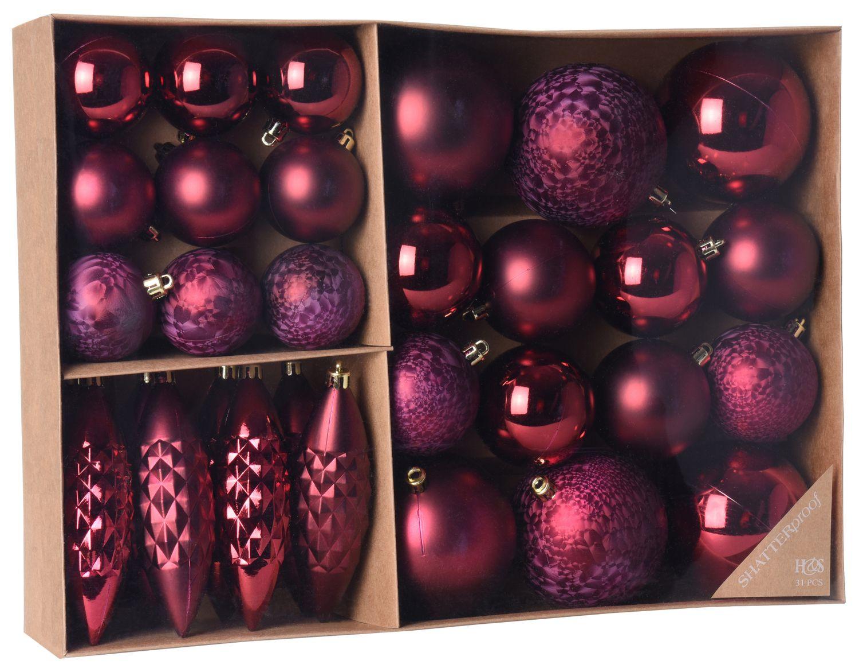 Weihnachtskugeln Tannenbaumschmuck rot