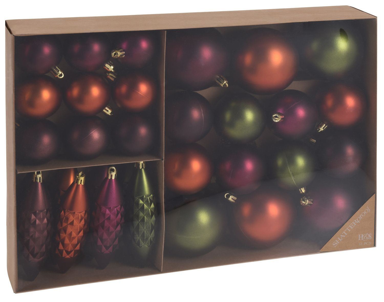 Weihnachtskugeln Tannenbaumschmuck farbig