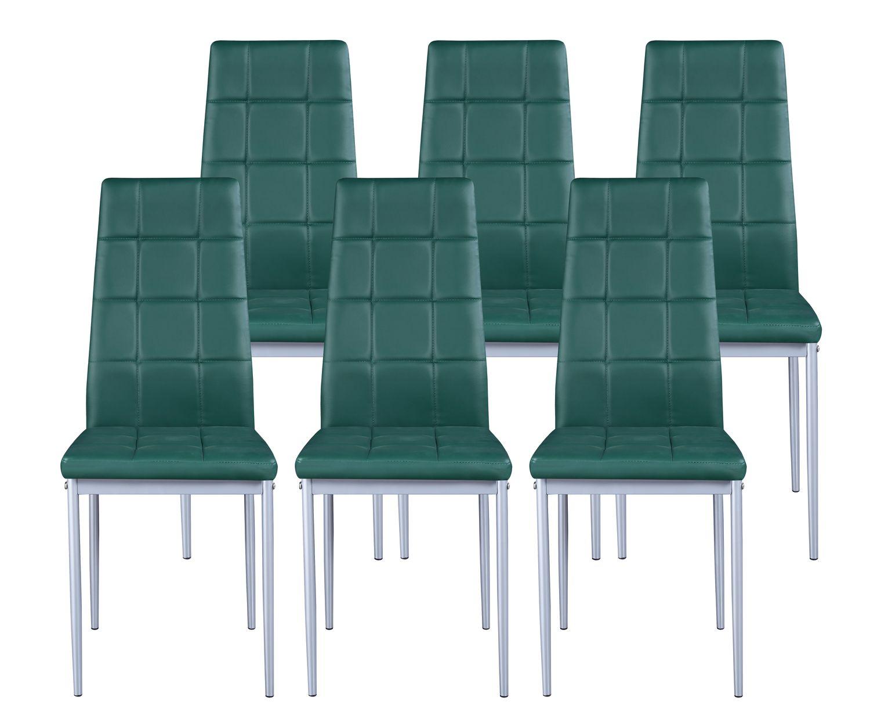 Esszimmerstuhl MARC grün im 6er Set