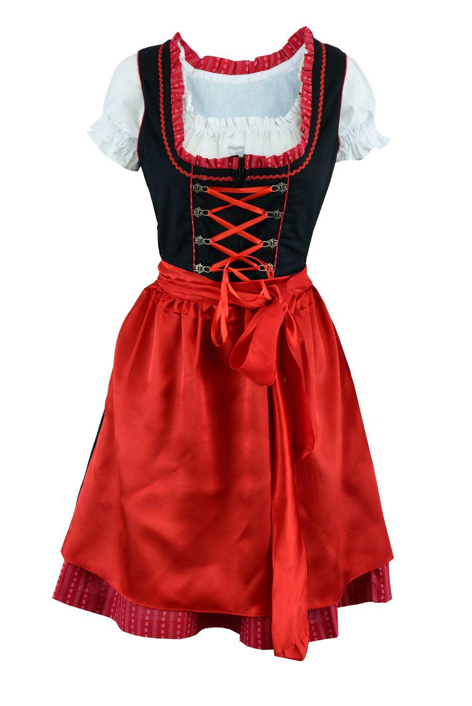 Dirndl Kleid rot Grösse 40
