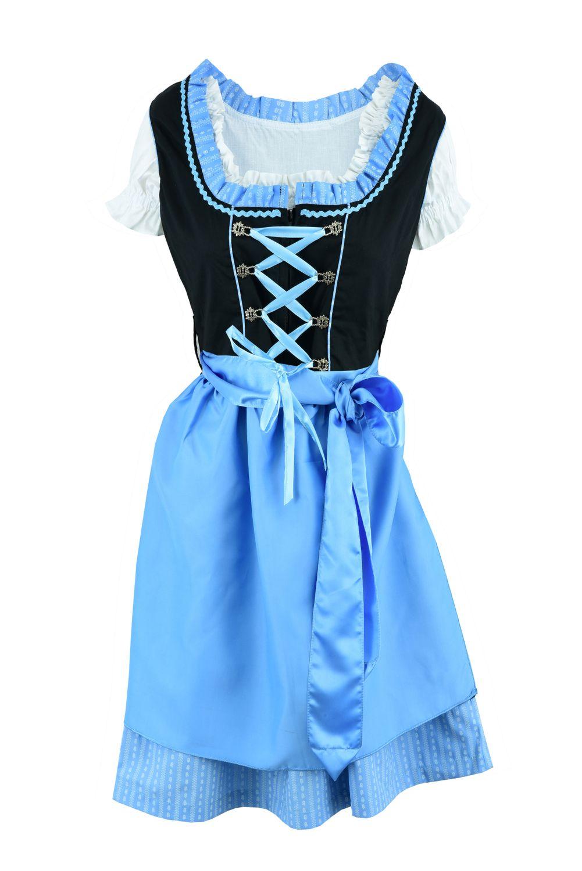 Dirndl Kleid blau Grösse 48
