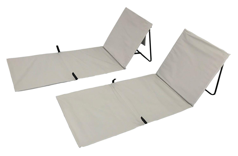 Strandmatte grau Doppelpack