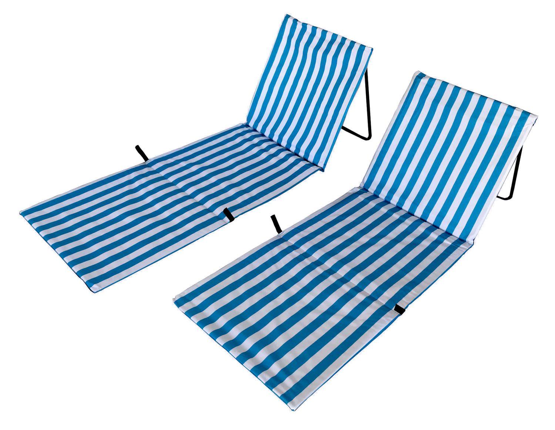 Strandmatte blau/weiss Doppelpack