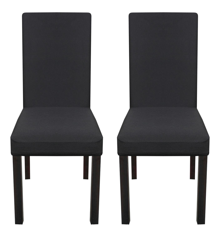 Stuhlbezug im 2er Set schwarz