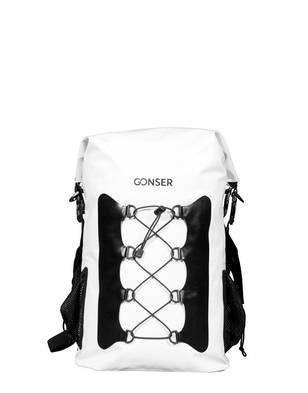 Dry Bag Rucksack wasserdicht weiss 30L