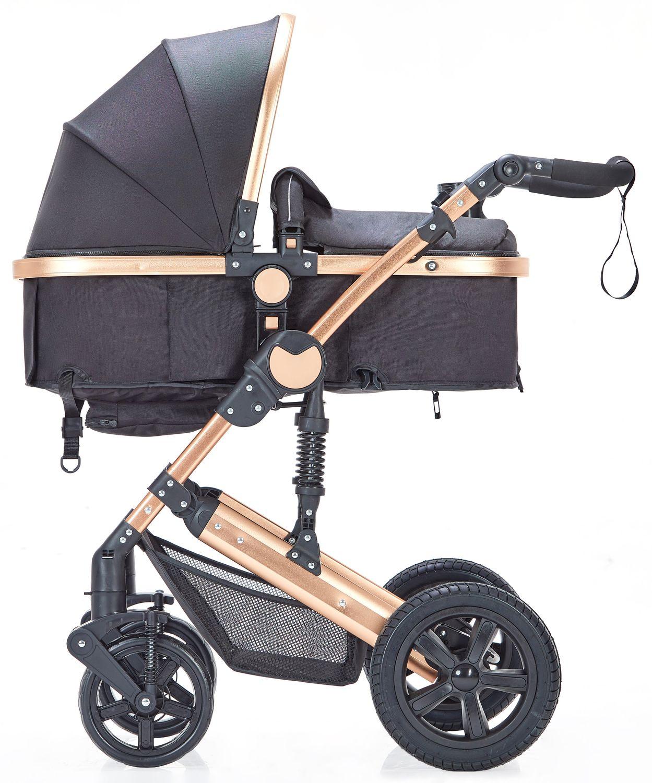 Kinderwagen MOTION 2 in 1 schwarz / gold