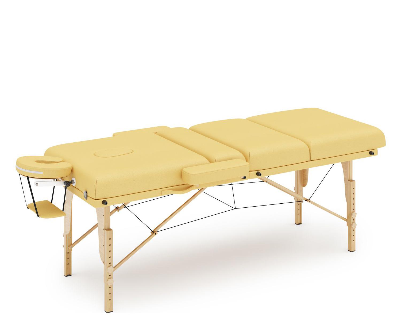 Massageliege 4-Zonen gelb