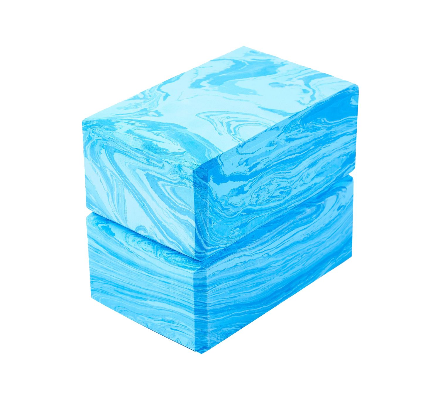 Yoga Block 2er Set camouflage blau