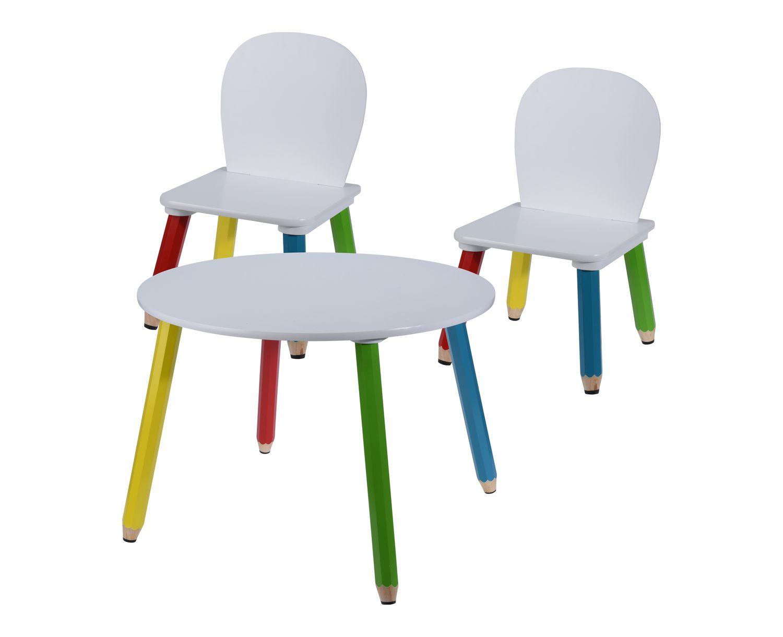 Kindertisch mit 2 Stühlen