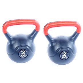 Poids kettlebell 2x 2kg - pack double