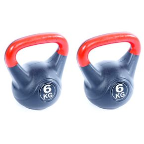 Poids kettlebell 2x 6kg - pack double