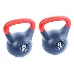 Poids kettlebell 2x 8kg - pack double