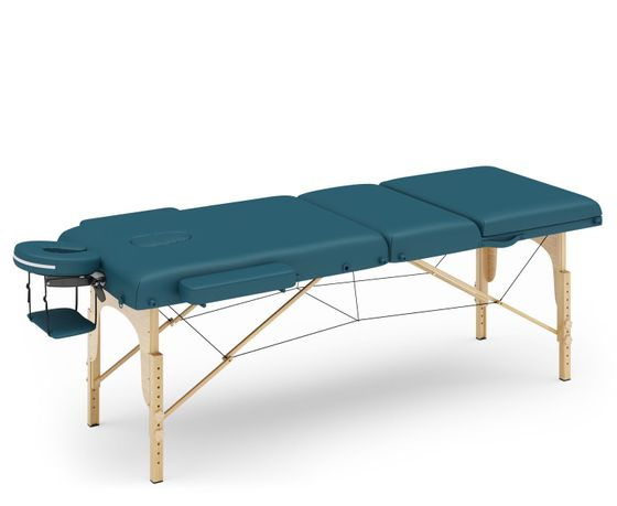 Table de massage 3 zones bleu pétrole
