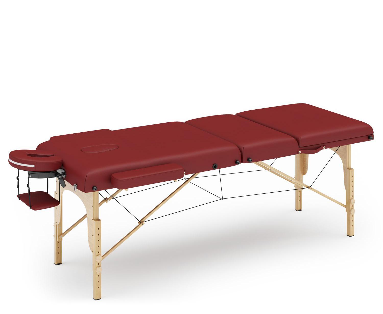 Massageliege 3-Zonen rot