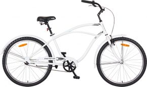 Cruiser 4 vélo pour hommes blanc