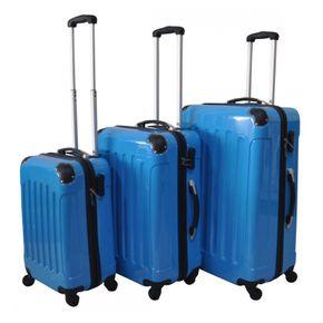 Reisekoffer Hartschalenkoffer 3er SET blau