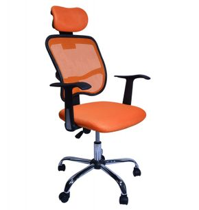 Chaise de bureau fauteuil de direction orange