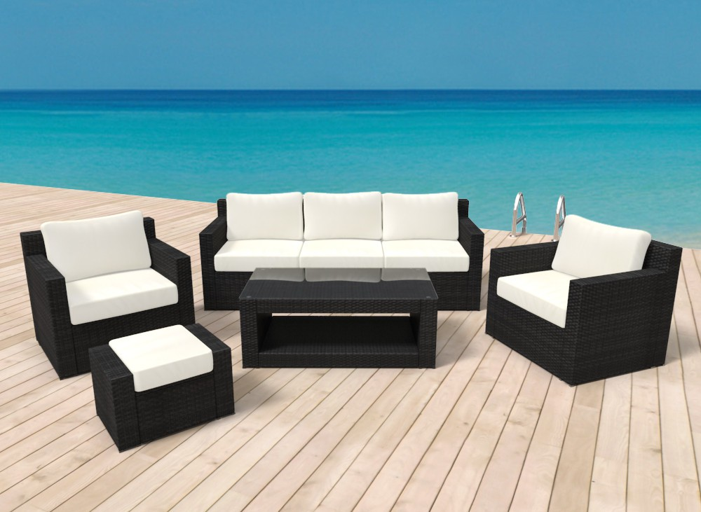 gartenm bel rattan lounge manila online shop gonser. Black Bedroom Furniture Sets. Home Design Ideas