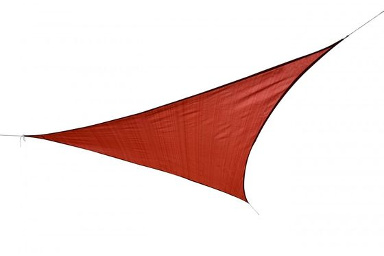 Voile d'ombrage triangle 5 x 5 x 5 m rouge