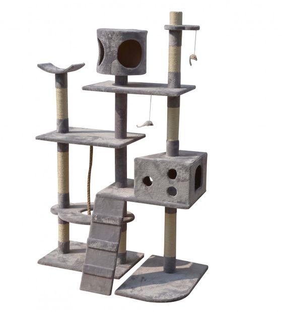 Katzenbaum 165 cm hoch grau