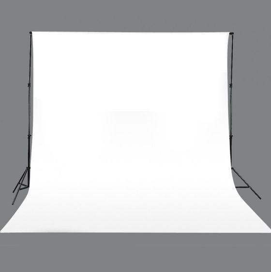 Tissu de fond 3 x 3 m blanc