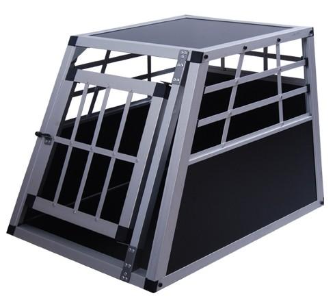 Cage de transport pour chien alu noir, petit