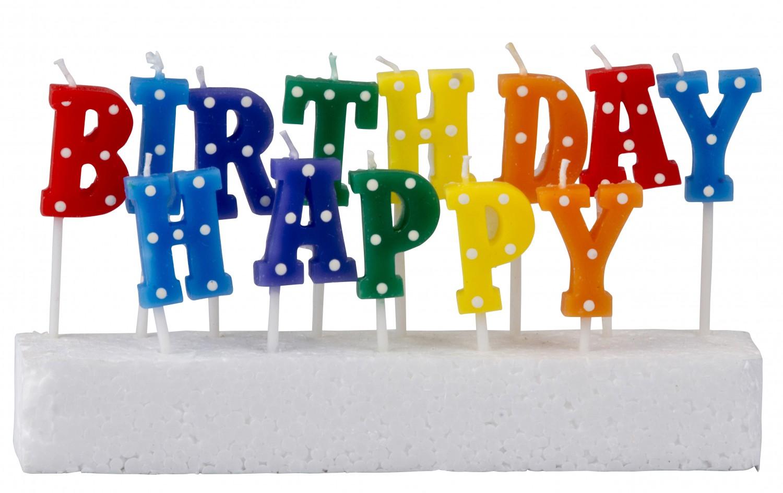 Kerzen 'Happy Birthday' 13-teilig