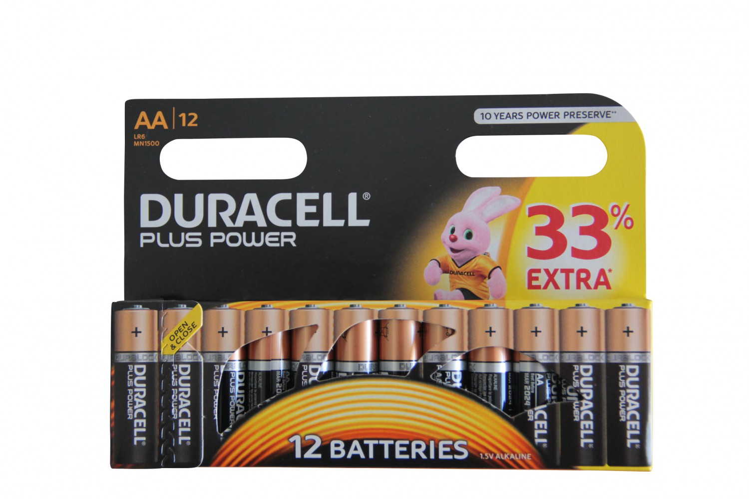 DURACELL Plus Power AA Batterien MX1500 / LR6 12 Stk.