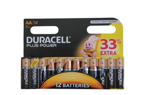 DURACELL Plus Power AA batterie MX1500 / LR6 12 pcs
