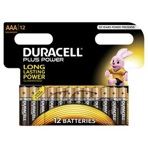 DURACELL Plus Power Batterien AAA MN2400 / LR03 12 Stk.