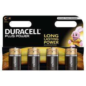 DURACELL Plus Power Batterien MN1400 C / LR14 4 Stk.