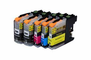 Set des cartouches d'encre compatible avec Brother LC-223BK / C / M / Y
