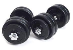 Set d'haltères courtes pack double 2 x 15 kg