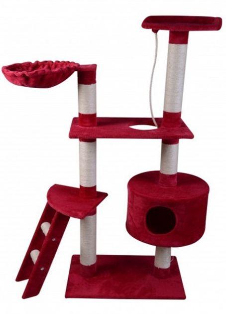 Arbre à chat hauteur 150 cm, rouge