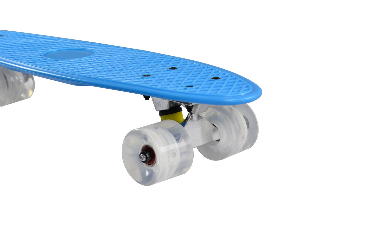 ... Retro Skateboard Mit LED Blau ...