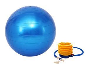 Ballon de gym 75 cm bleu
