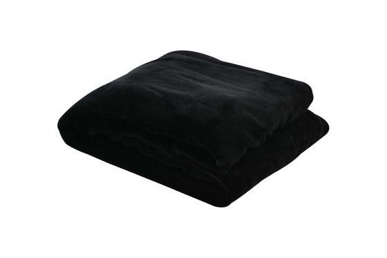 Tagesdecke Kuscheldecke 150 x 200 cm schwarz