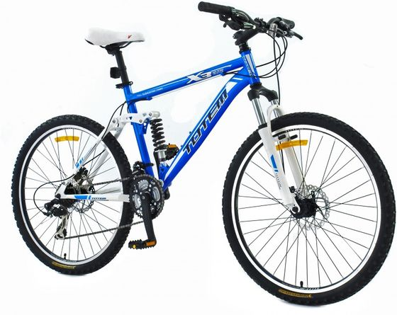 "TOTEM vollgefedertes Mountainbike Velo 26"" blau"