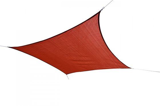 Voile d'ombrage carré 5 x 5 m rouge