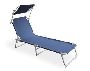 Chaise longue bleu