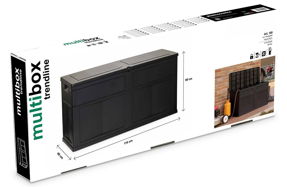 Kissenbox schwarz 320 L