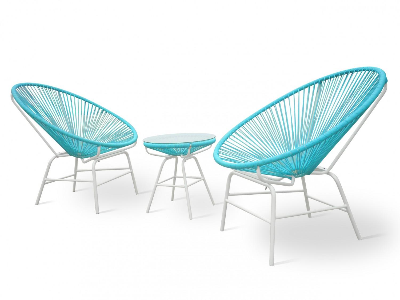 Gartenmöbel Set RAY blau