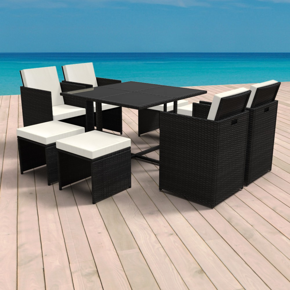rattan sitzgruppe mit tisch online shop gonser. Black Bedroom Furniture Sets. Home Design Ideas