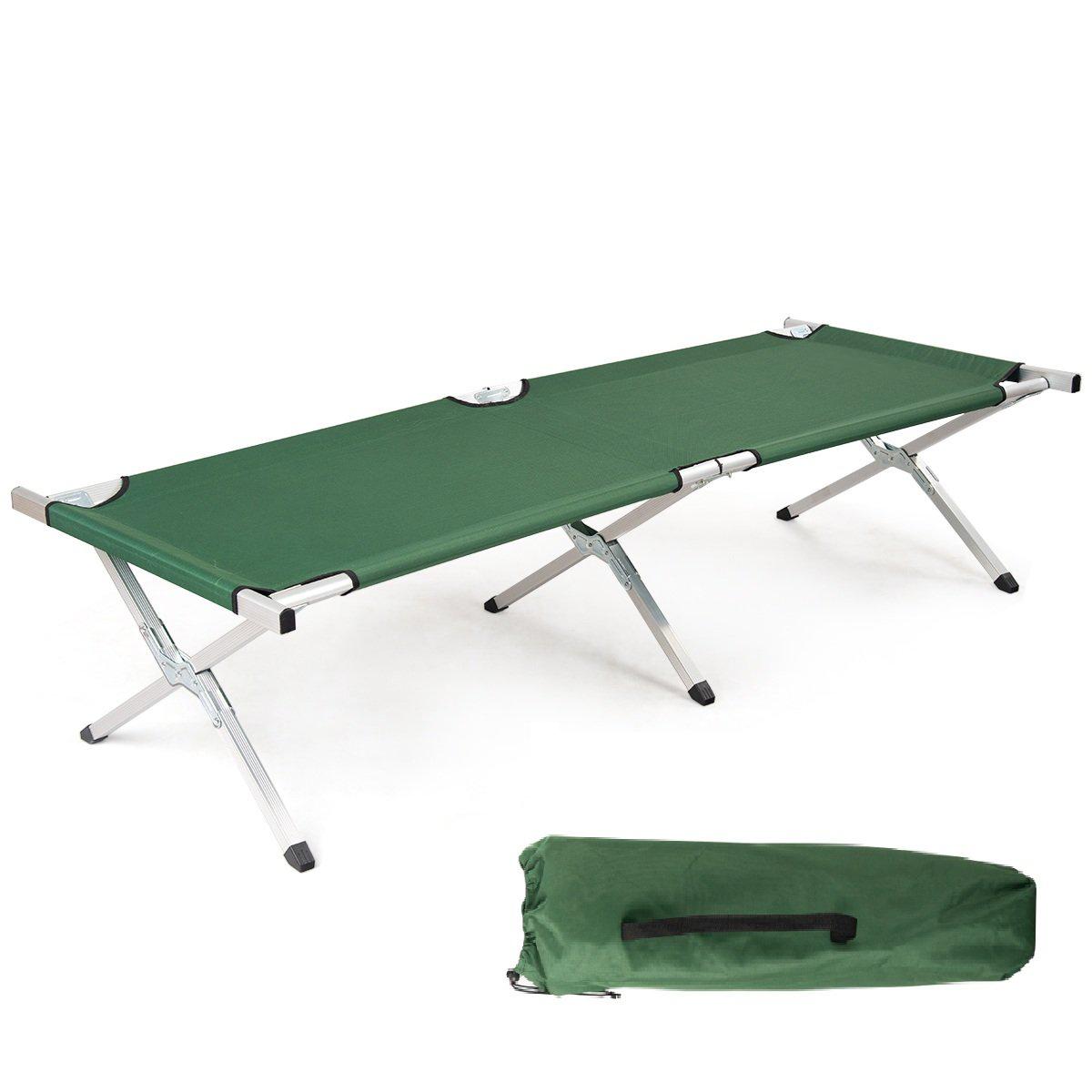 Campingbett klappbar grün