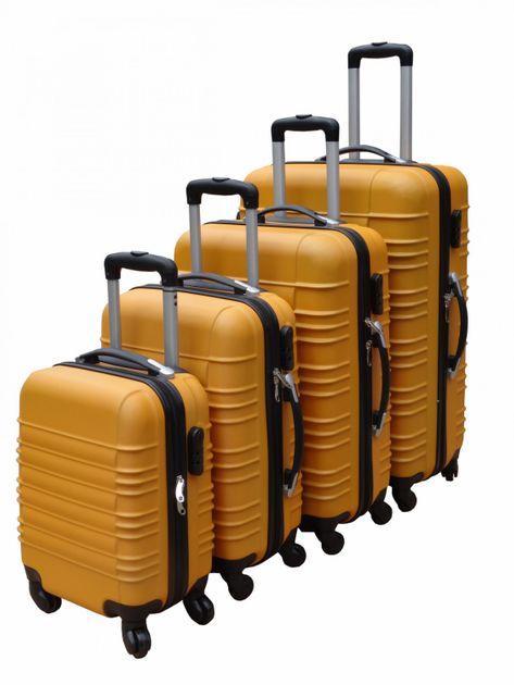 ABS valise de voyage valise coque rigide SET de 4 orange