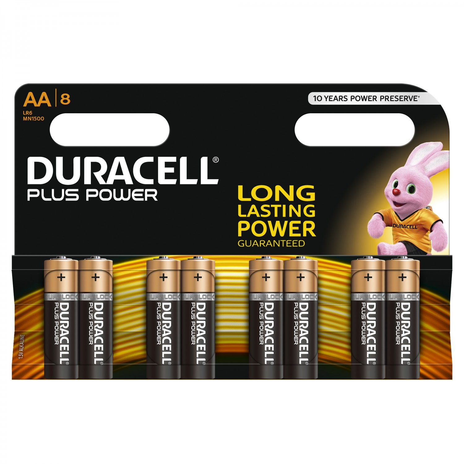 DURACELL Plus Power AA Batterien MN1500 8 Stk.